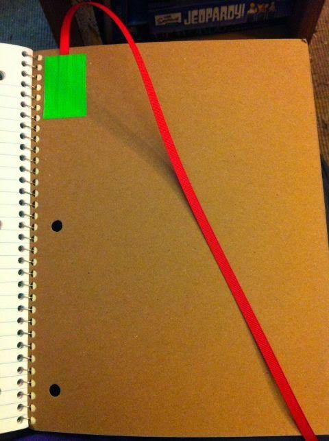 Tape a ribbon into your interactive notebooks to help students find their place.