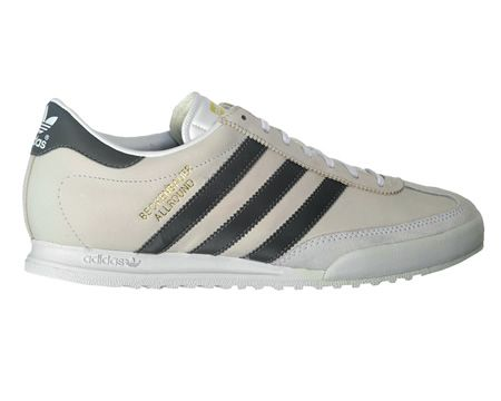 Adidas Beckenbauer White/Grey Leather Trainers Adidas Beckenbauer White/Grey Leather Trainers Colourway