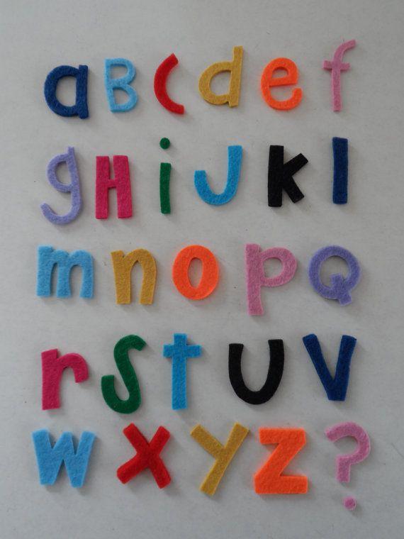 Lettere fustellate in feltro 3mm di SteffiStore su Etsy