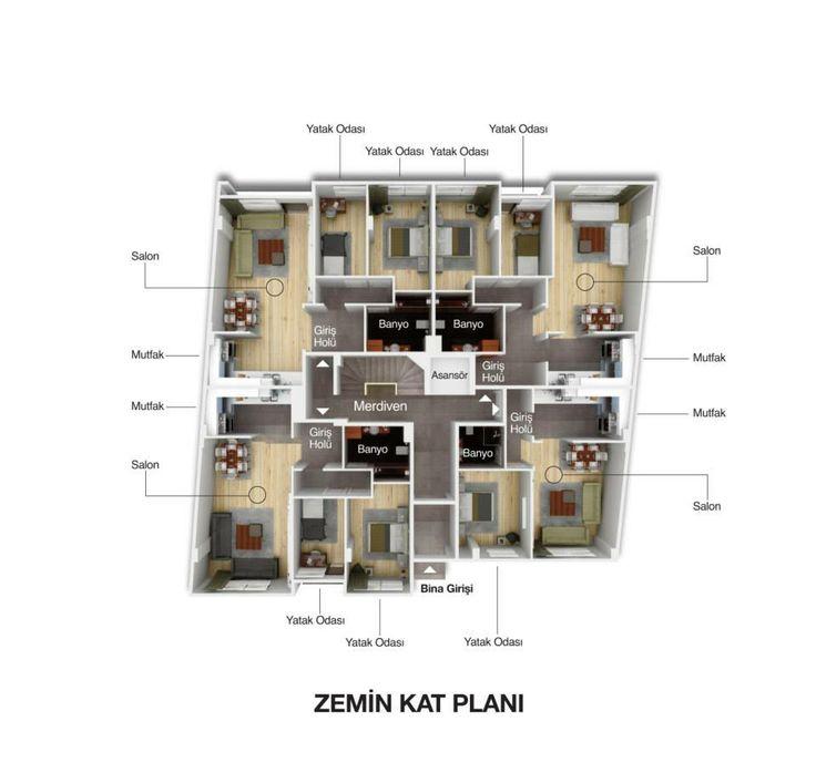 SeraPark 34  Zemin Kat Planı