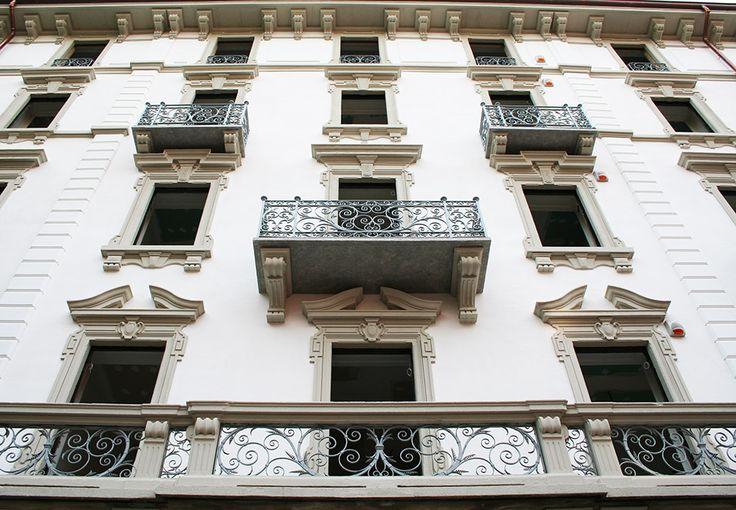 Via Zenale Decorazione facciata