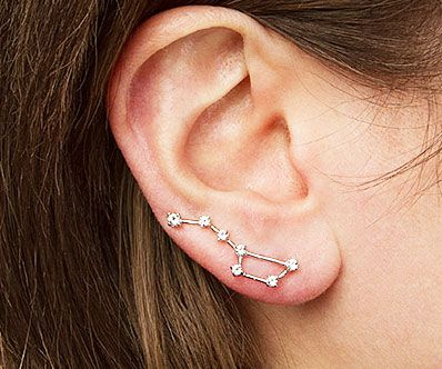 Make yourself look stellar before heading out by accenting your outfit with these constellation earrings. Available in either the Big Dipper, Little Dipper, or Orion's Belt - each earring is made from silver wire accentuated by topaz stars.