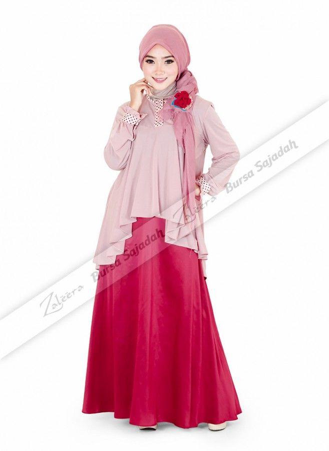 Baju atasan bermodel pinguin dengan pola panjang asimetris yang simple dan stylish! Tunik yang terbuat dari bahan jersey & spandex ini selain dibalut dengan warna pink-nya yang soft, juga didesain dengan sentuhan motif polka yang casual.