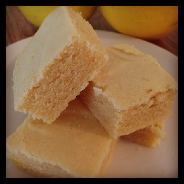 "Lemon ""Brownies"":  lemon juice, sweetener of choice, coconut oil, cottage cheese and eggs, flour of choice, baking soda and a pinch of salt ..."