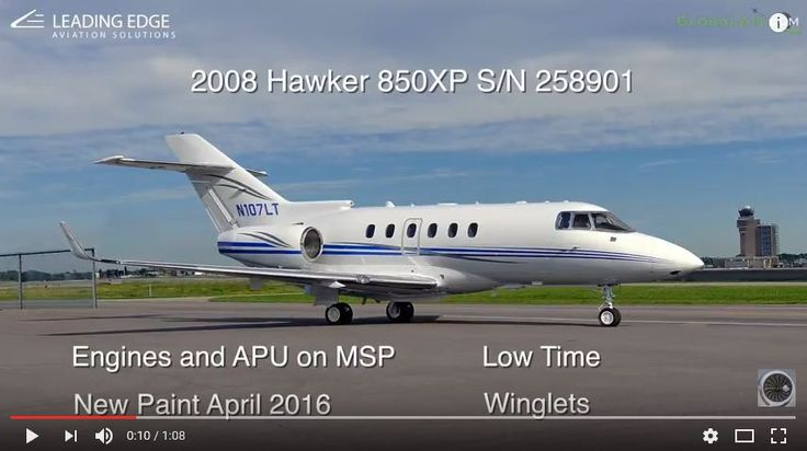 Need something slick to fly? How about this nine-passenger 2008 Hawker 850XP? Low time, engines and APU on MSP, new paint in 2016, winglets, Airshow and much more!