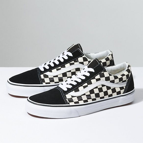 Moda Vans Hombre Primary Check Old Skool Black & White
