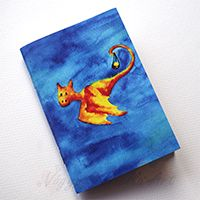Fényhozó sárkányok füzet #illusztráció #füzet #akvarell #design