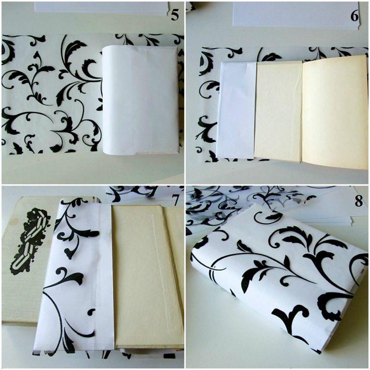 DIY - Ozdobný obal na knihy - koláž 2