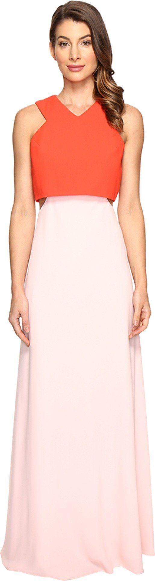 JILL JILL STUART Women's 2-Ply Crepe Popover Dress Tangerine/Ballet Pink Dress
