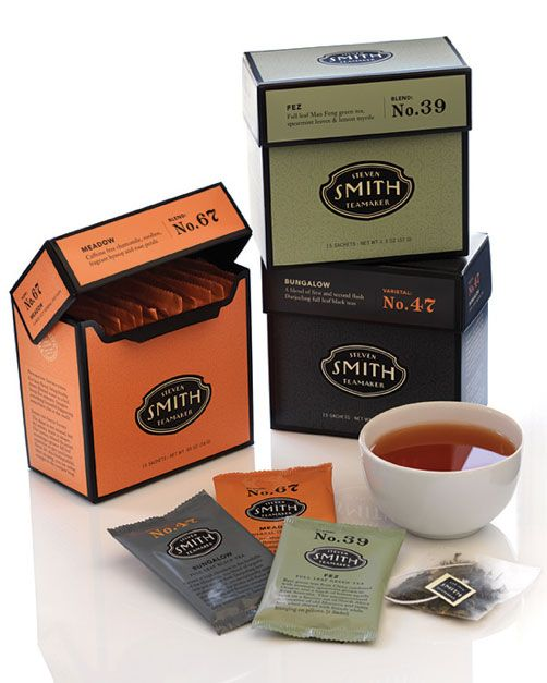 Package design  by Sandstrom Partners: Smith Teamak, Teas Time, Smith Teas, Packaging Design, Packaging Inspiration, Boxes Packaging, Teas Packaging, Steven Smith, Sandstrom Partners