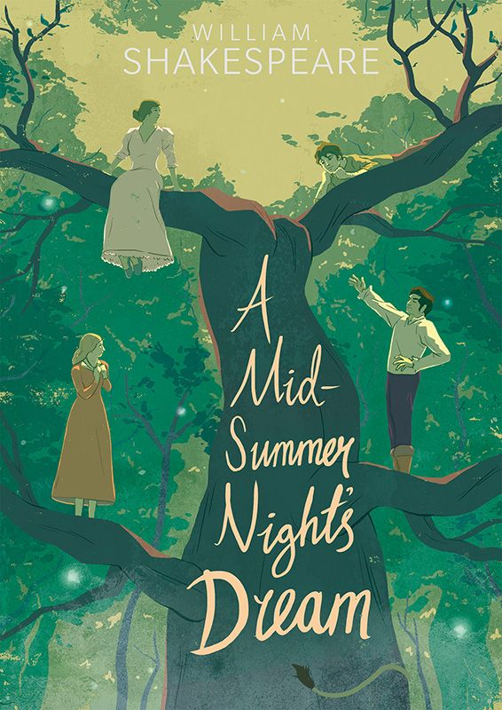 gilesmead: Book cover design for A Midsummer Night's Dream. Rare use of hand-drawn typ