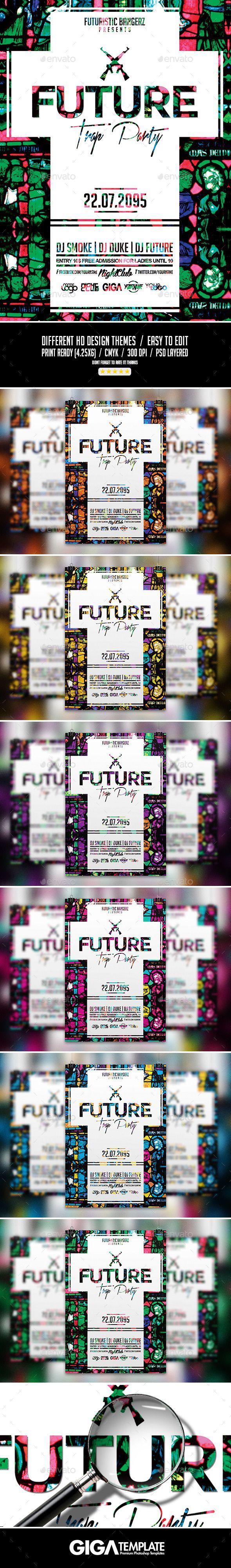 Future Trap Party | Futuristic PSD Flyer Template