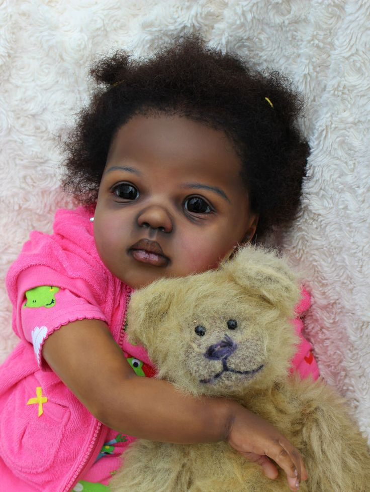 Reborn Big Doll Toddler Aa Ethnic Black Jamina By Artist
