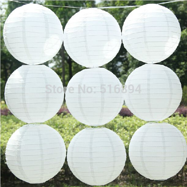 Aliexpress.com : Buy Free shipping 10pcs/lot 8''(20cm) Round paper lantern White paper lanterns lamps festival wedding decoration party lanterns from Reliable party string lanterns suppliers on YiYi1217 Shop  | Alibaba Group
