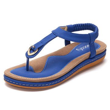 High-quality SOCOFY Comfortable Elastic Clip Toe Flat Beach Sandals - NewChic Mobile.