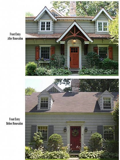 Cape Cod Renovated into Craftsman Style Home - Before and After