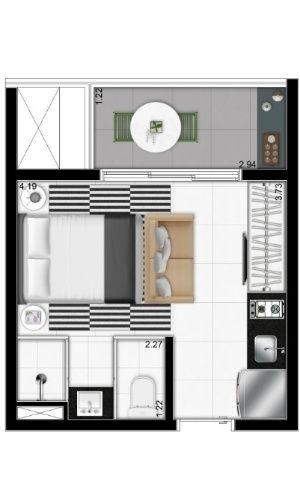 'Uma vida simples é mais feliz', diz arquiteto de apartamento de 19m² - Notícias - UOL Economia