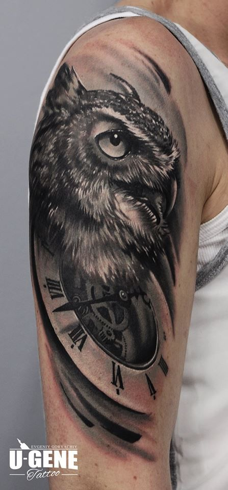 Owl tattoo by U-Gene