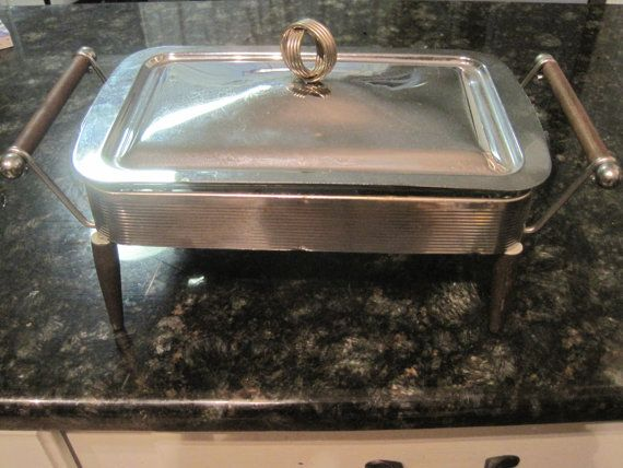 Funky Midcentury Chafing Dish: Fire King