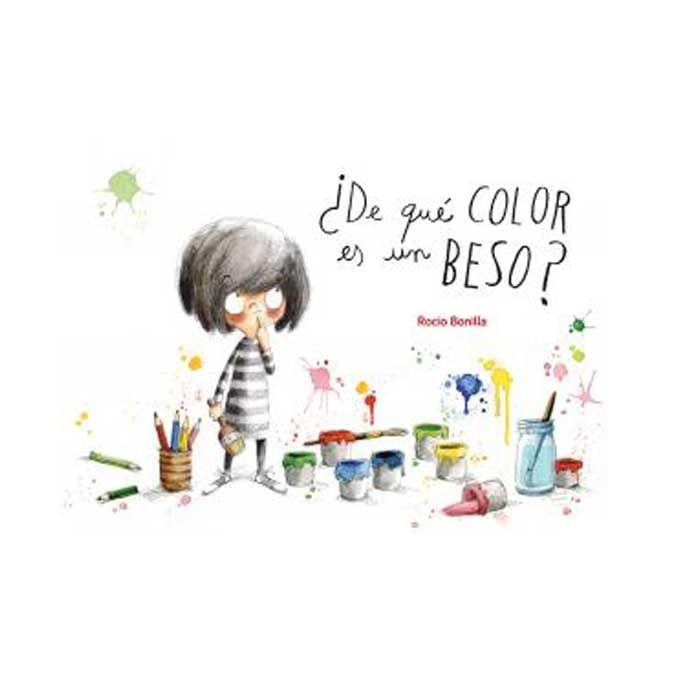 ¿DE QUÉ COLOR ES UN BESO? - Alupé – A Mónica le encanta pintar mil cosas de colores: mariquitas rojas, cielos azules, plátanos amarillos? pero nunca ha pintado un beso. ¿De qué color será? ¿Rojo como una deliciosa salsa de tomate? No, porque también es el color de cuando estás enfadado? ¿Será verde como los cocodrilos, que siempre le han parecido tan simpáticos? Imposible, porque es el color de las verduras y ¡no le gusta comérselas! ¿Cómo podría averiguar de qué color es un beso?