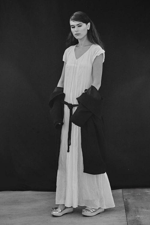 Купить ПЛАТЬЕ ОБЛАКО двухслойное из коллекции «Resort 2016» от Lesel (Лесель) российский дизайнер одежды