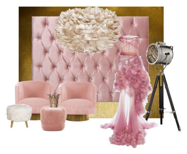 Pink mood by illetilmote on Polyvore featuring interior, interiors, interior design, home, home decor, interior decorating, Normann Copenhagen and Marchesa