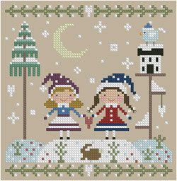 Best Friends Cross Stitch Pattern by Theflossbox on Etsy