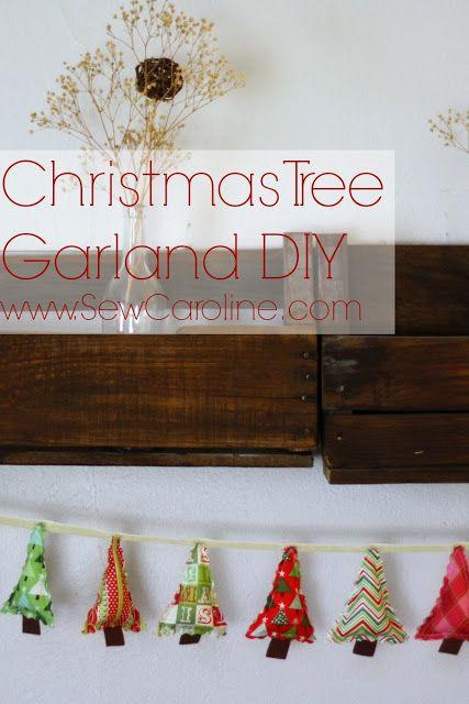 Sew Your Own Christmas Tree Garland // www.SewCaroline.com for So-Sew-Easy.com