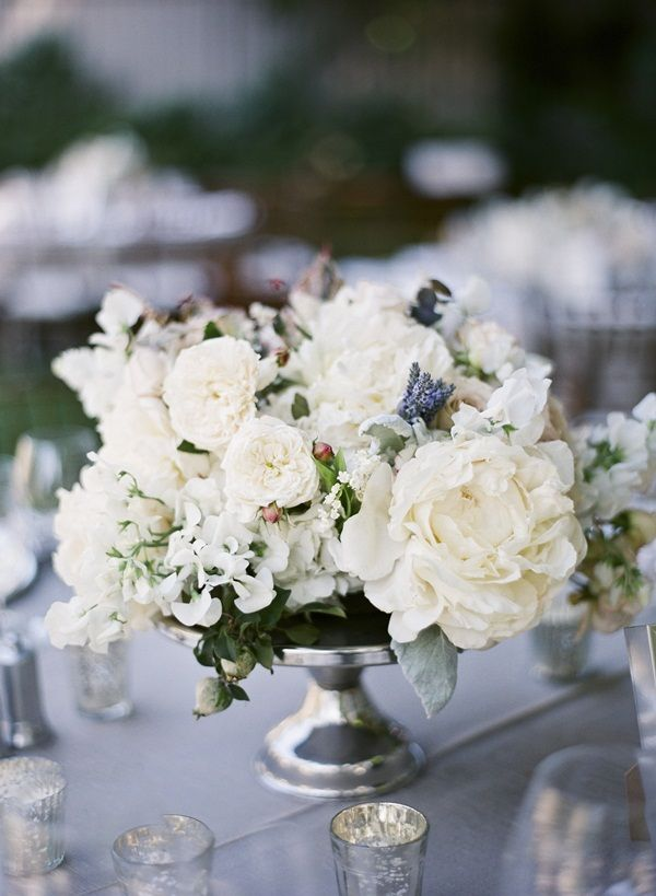 Elegant White Centerpiece   photography by http://www.giacanali.com