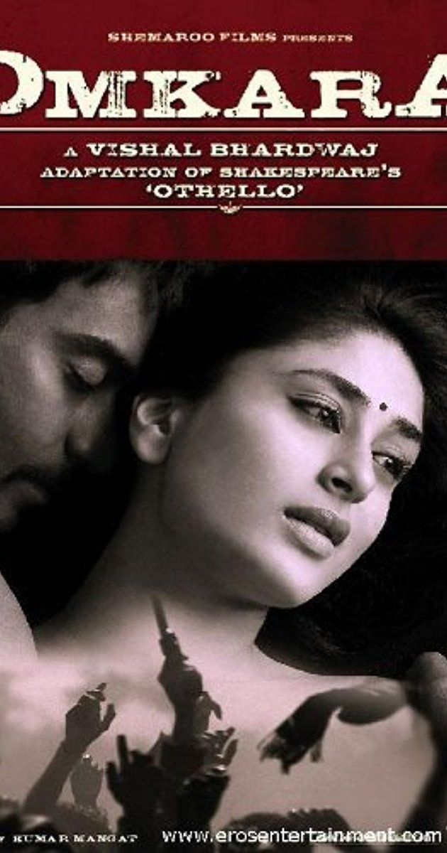 Directed by Vishal Bhardwaj. With Ajay Devgn, Kareena Kapoor Khan, Saif Ali Khan, Konkona Sen Sharma. A politically-minded enforcer's misguided trust in his lieutenant leads him to suspect his wife of infidelity in this adaptation of Shakespeare's 'Othello'.