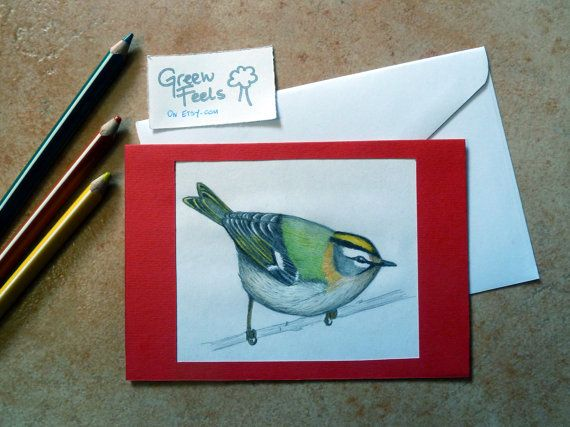 Biglietto o quadretto naturalistico disegnato a mano di GreenFeels