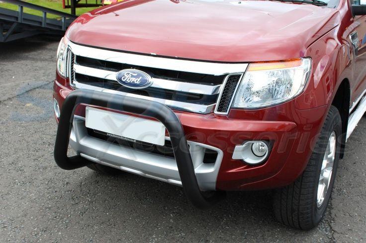 Ford Ranger T6 2012 onwards BLACK Front A-Bar, Bull Bar, Nudge Bar 76mm