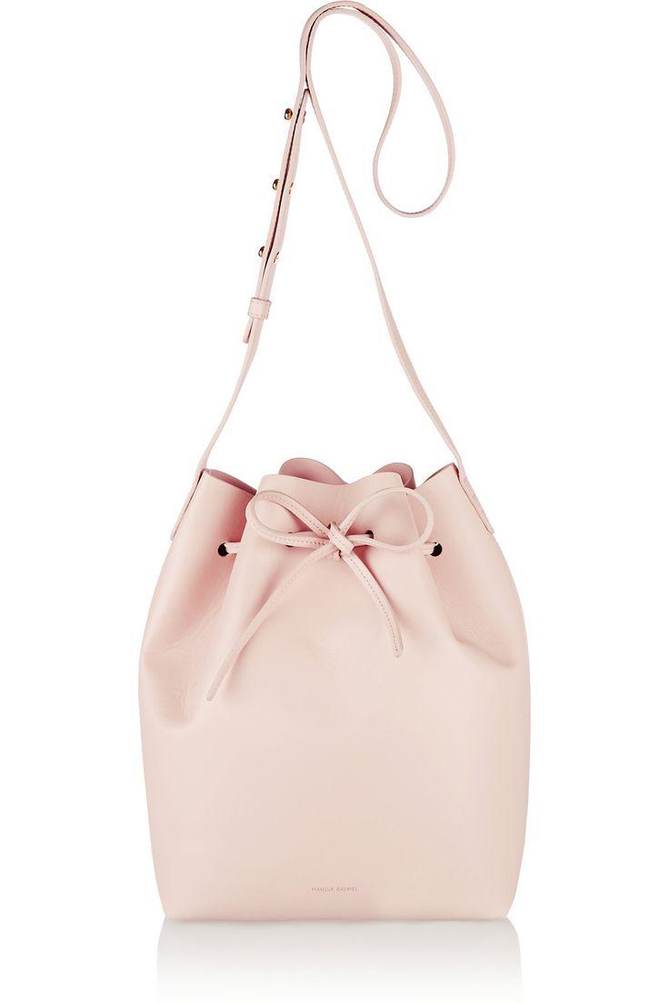 Mansur Gavriel Leather Bucket Bag, Blush