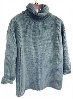 Easy to knit...lovely shape, definitely a go-to everyday turtleneck