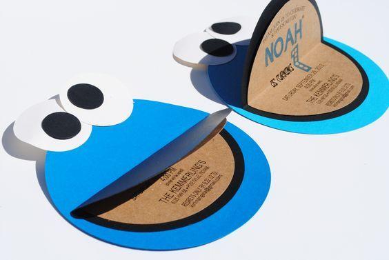 baby cookie in cookie jar costume | Cookie Monster Invitations | The Blue Envelope