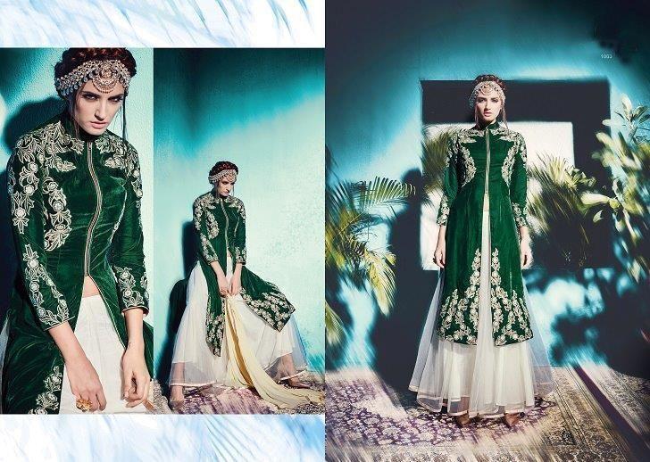Pakistani Wedding Party Indian Bollywood Designer Anarkali Green Salwar Kameez #KriyaCreation #SalwarSuit