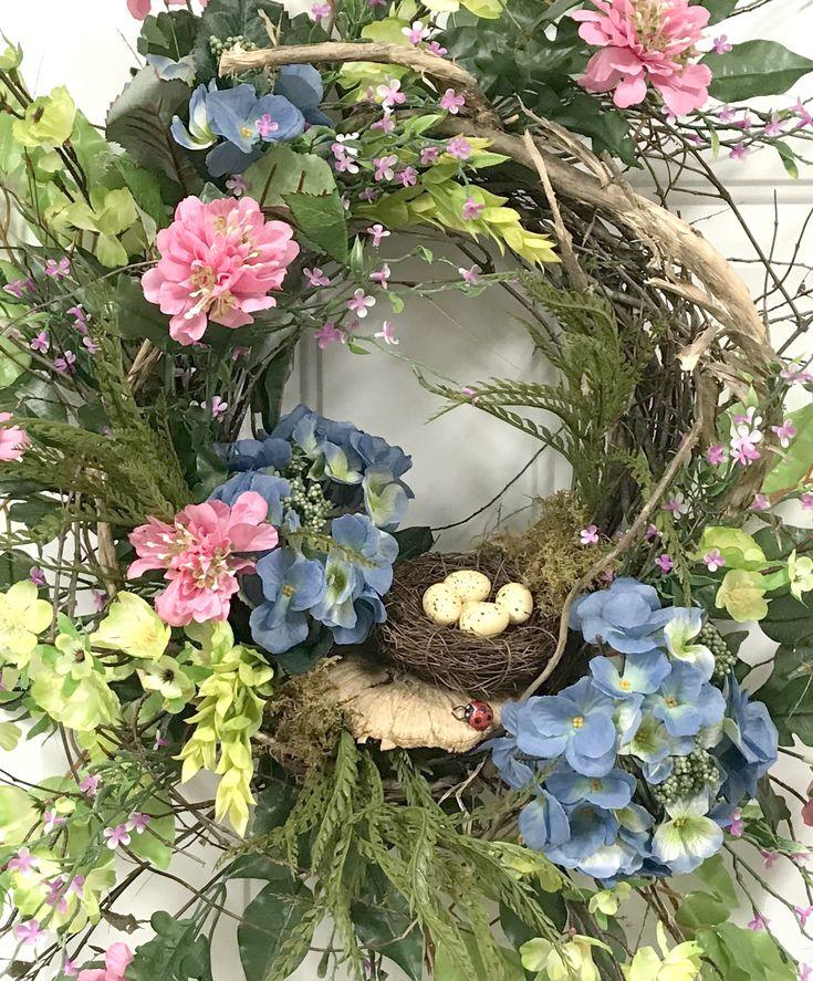 SpringSummer Wreath for your front door filled