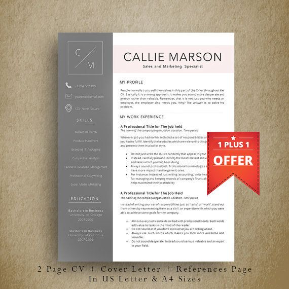 9 best CV images on Pinterest Cv template, Resume templates and - my professional resume