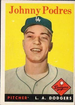 1958 Topps #120 Johnny Podres Front