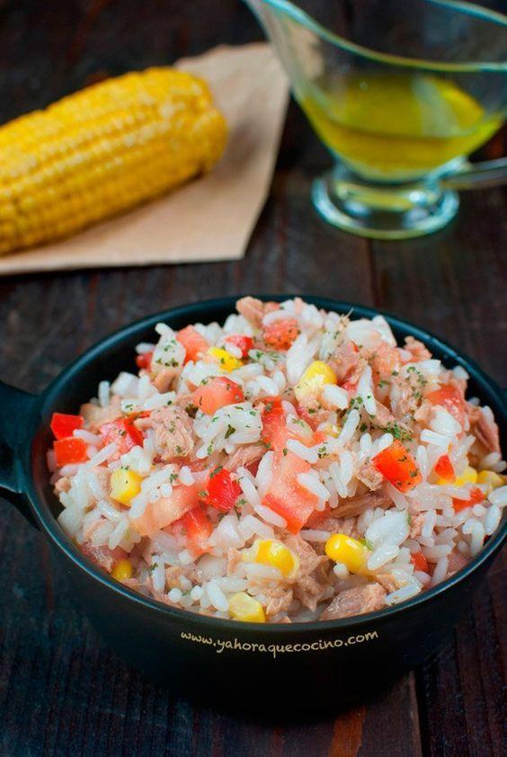 Recetas economicas arroz y atun