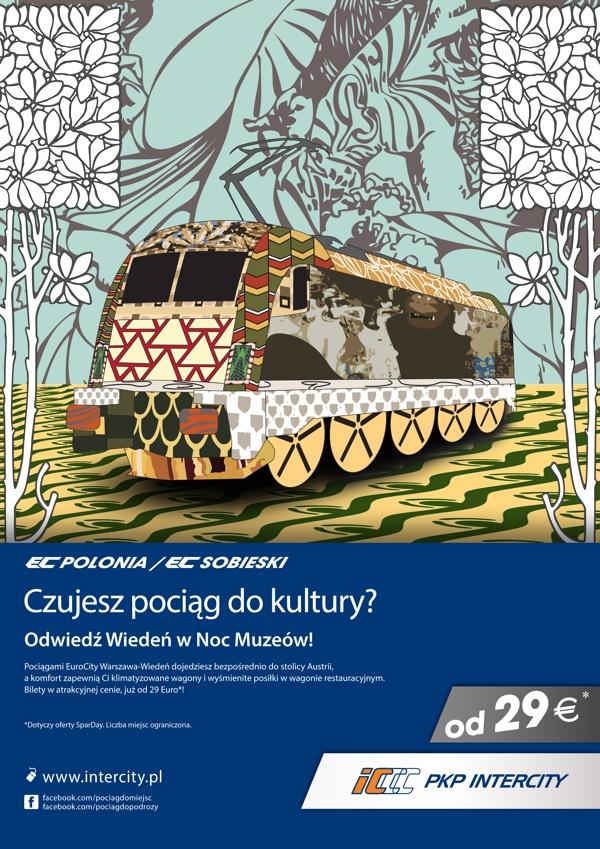 Poster design for Polish Railways PKP by Piotr Najar, via Behance