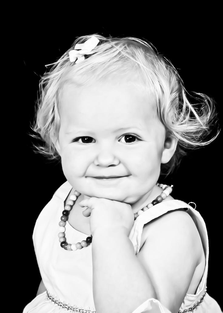 Gorgeous high contrast toddler portrait taken at sears portrait studio