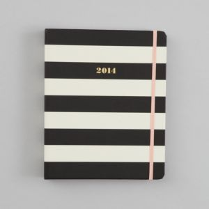 kate spade new york 2014 17 Month Agenda, Black and White Stripe