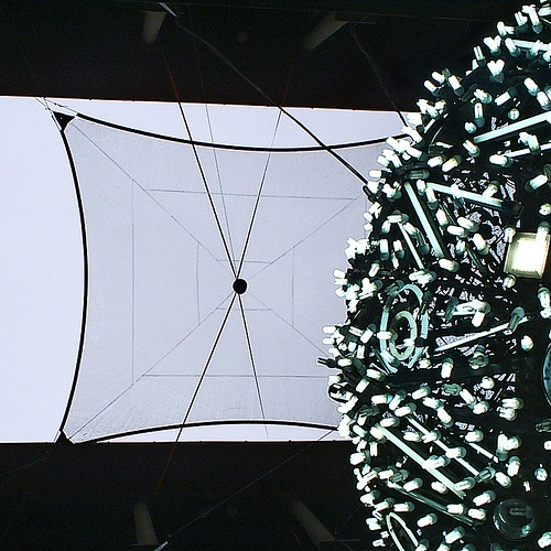 Light ball installation at the atrium of Palazzo STROZZI, Florence, 2008
