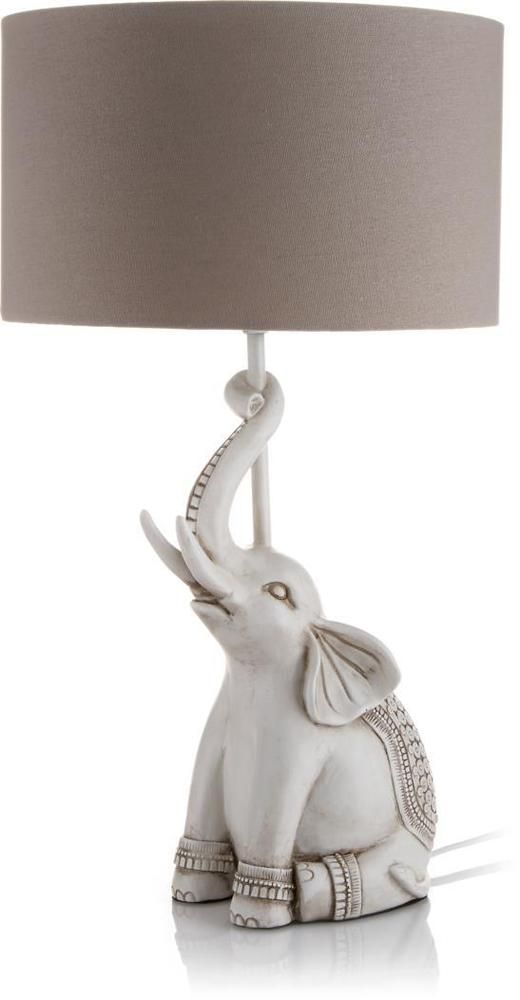 Elephant Base Table Lamp With Grey Shade Home Lighting Reading Lamps Animal Gift Lamp Reading Lamp Pet Gifts