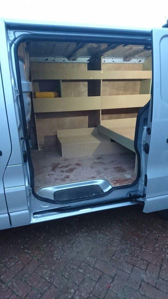New vivaro van racking side view