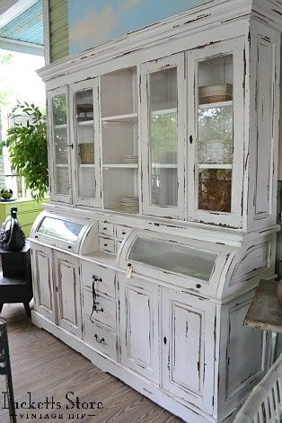 A fabulous piece- it looks like a cabinet from an old country store.