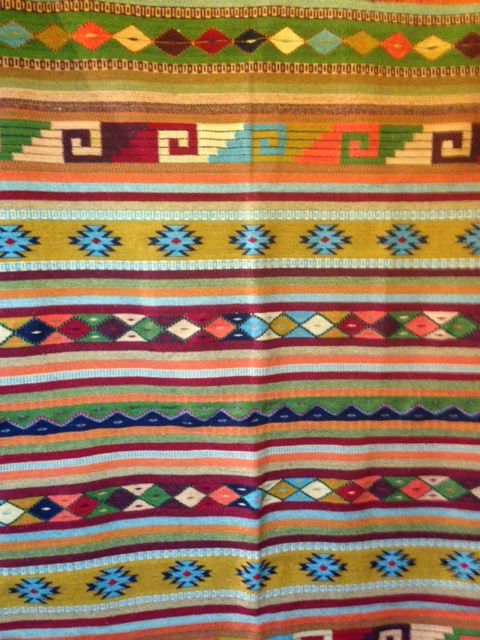 Del Sol Tularosa has a great selection of hand woven rugs from Oaxaca, Mexico.  All rugs are woven by the Zapotec people in the village of Teotitlan del Valle.