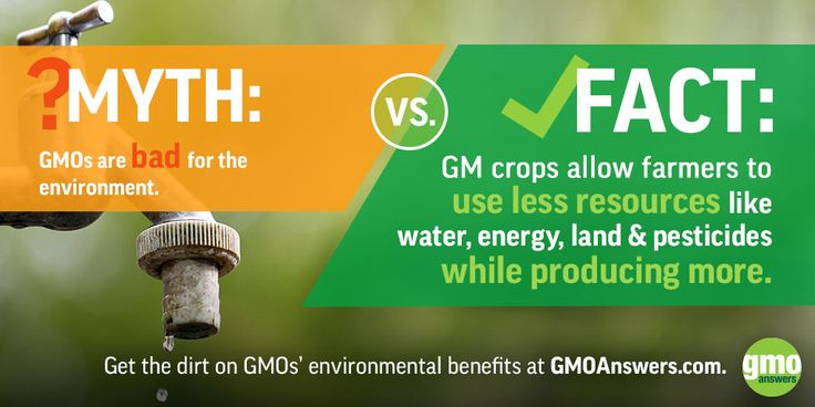 Get the dirt on GMOs' environmental benefits at GMOAnswers.com
