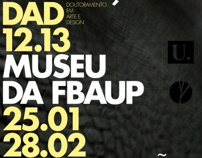 poster // dad 2012.13 by Vitor Tavares, via Behance